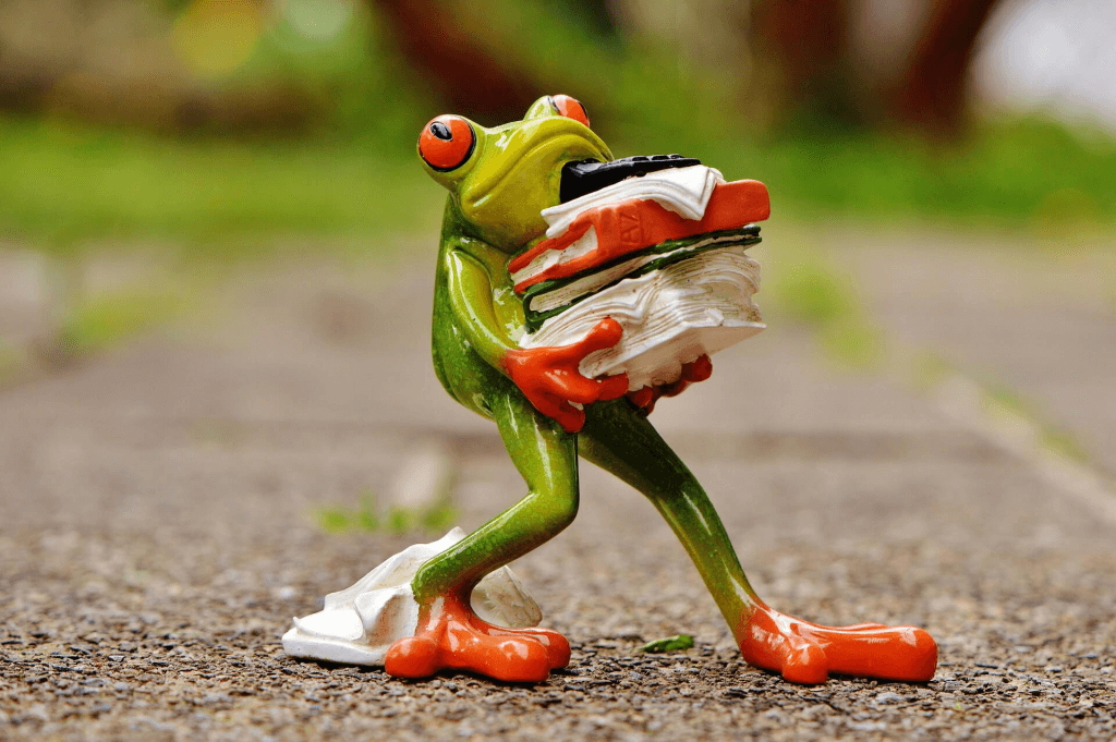 Frog unhappy at work
