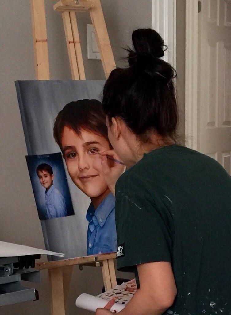 Sophie Lemieux painting